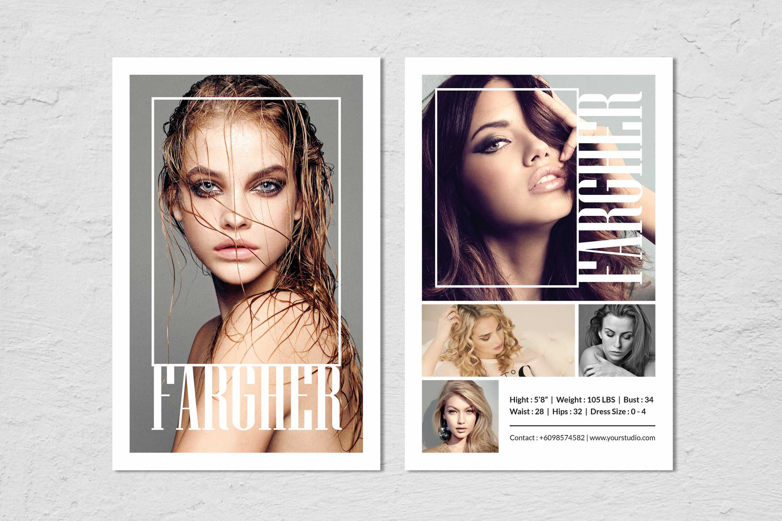 Modeling Comp Card Template Throughout Free Zed Card Template