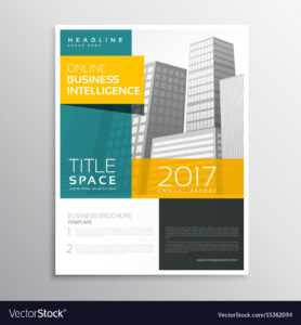 Modern Business Brochure Template Design In Clean with Online Brochure Template Free