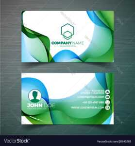 Modern Business Card Design Template With in Modern Business Card Design Templates