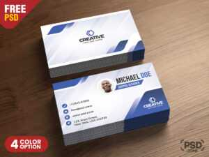 Modern Business Cards Design Psd – Psd Zone for Name Card Design Template Psd