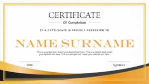 Modern Certificate Powerpoint Template inside Powerpoint Certificate Templates Free Download
