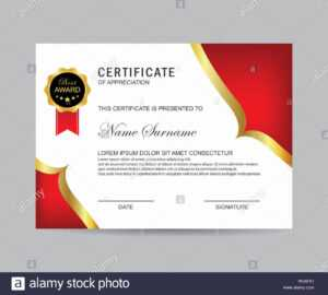 Modern Certificate Template And Background Stock Photo with Borderless Certificate Templates