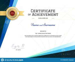 Modern Certificate Template With Elegant Border Frame for Free Training Completion Certificate Templates