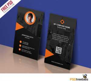 Modern Corporate Business Card Template Free Psd with regard to Template Name Card Psd