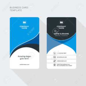 Modern Creative And Clean Two Sided Business Card Template. Flat.. in Double Sided Business Card Template Illustrator