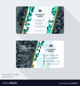 Modern Creative Business Card Template Flat Design regarding Web Design Business Cards Templates