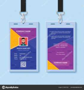 Modern Creative Id Card Design Template — Stock Vector regarding Company Id Card Design Template