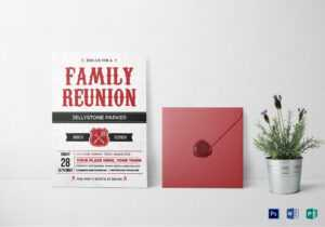 Modern Family Reunion Invitation Card Template throughout Reunion Invitation Card Templates