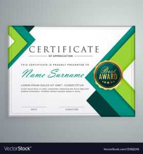 Modern Geometric Shape Certificate Design Template in Design A Certificate Template