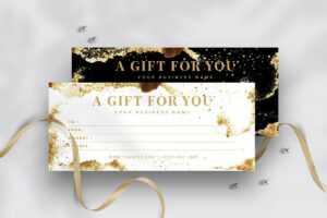Modern Gift Voucher Template inside Gift Certificate Template Indesign
