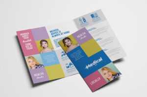 Modern Medical Tri-Fold Brochure Template In Psd, Ai within Tri Fold School Brochure Template