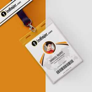 Modern Office Identity Card Free Psd Template – Indiater inside College Id Card Template Psd