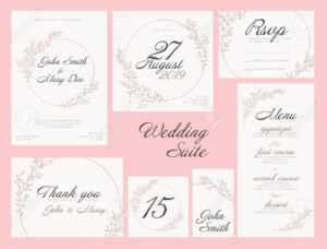 Modern Pink Wedding Suite Collection Card Templates With Pink.. with regard to Table Name Card Template