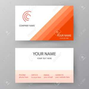 Modern Presentation Card With Company Icon. Vector Business Card.. intended for Business Card Template For Word 2007