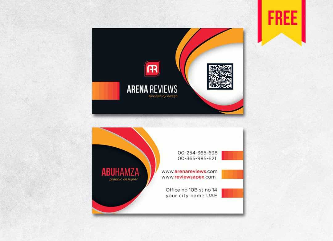 Modern Professional Business Card - Free Download | Arenareviews Pertaining To Professional Business Card Templates Free Download