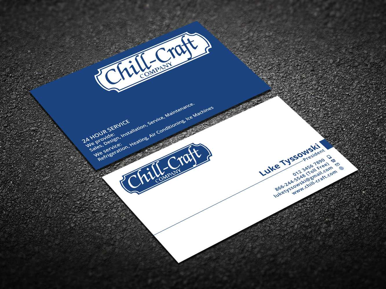 Modern, Professional, Hvac Business Card Design For Chill Intended For Hvac Business Card Template