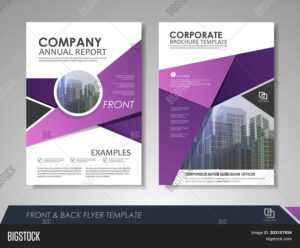 Modern Purple Vector & Photo (Free Trial) | Bigstock intended for Online Brochure Template Free