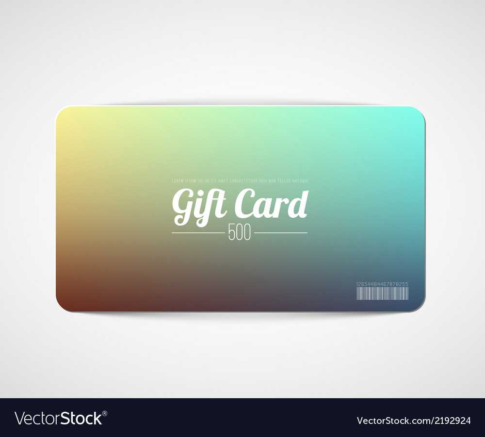 Modern Simple Gift Card Template With Regard To Gift Card Template Illustrator