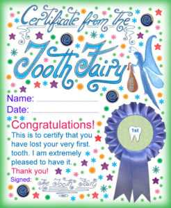 Modern Tooth Fairy Certificates | Rooftop Post Printables with regard to Free Tooth Fairy Certificate Template