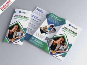 Modern Tri-Fold Brochure Design Psd – Uxfree within 3 Fold Brochure Template Psd