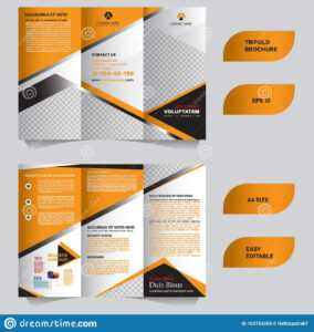Modern Trifold Brochure Template With Flat And Elegant intended for Tri Fold Brochure Template Illustrator Free