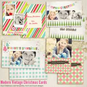 Modern Vintage Christmas Card Templates For Photographers with regard to Free Christmas Card Templates For Photographers