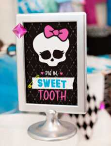 Monster High Birthday Party – (Freaky Fab) Free Printables in Monster High Birthday Card Template