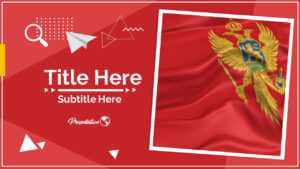 Montenegro Google Slides And Powerpoint Template : Myfreeslides regarding Patriotic Powerpoint Template