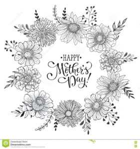 Mother S Day Card Stock Vector. Illustration Of Invitation throughout Mothers Day Card Templates