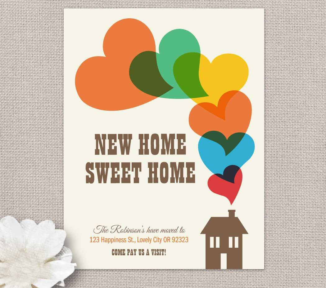 Moving Home Cards Template ] - Moving Home Inventory With Regard To Moving Home Cards Template