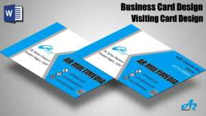 Ms Word Tutorial: Create Professional Business Card Design Tutorial  2019 Create Business Card with Microsoft Office Business Card Template