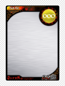 Multicolored Game Card Template, Template Collectable within Blank Magic Card Template