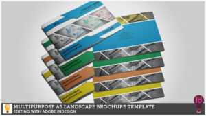 Multipurpose A5 Landscape Brochure Template Editing With Adobe Indesign in Adobe Indesign Brochure Templates