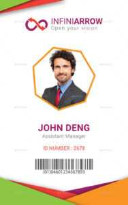 Multipurpose Business Id Card Template for College Id Card Template Psd
