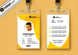 Multipurpose Corporate Office Id Card Free Psd Template intended for High School Id Card Template