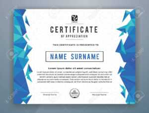 Multipurpose Modern Professional Certificate Template Design.. intended for Star Performer Certificate Templates