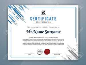 Multipurpose Modern Professional Certificate Template Design.. regarding Design A Certificate Template