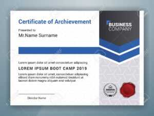 Multipurpose Professional Certificate Template Design For Print with regard to Boot Camp Certificate Template