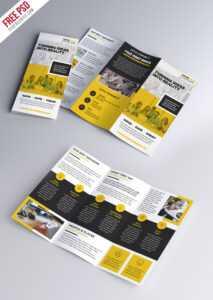 Multipurpose Tri-Fold Brochure Psd Template | Psdfreebies intended for Brochure Psd Template 3 Fold