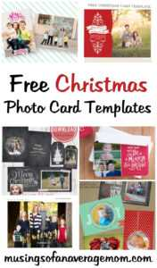 Musings Of An Average Mom: Free Photo Christmas Card Templates regarding Free Christmas Card Templates For Photographers