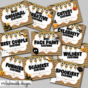 My Fashionable Designs: Halloween Costume Contest Certificates pertaining to Halloween Costume Certificate Template
