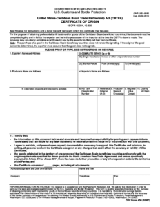 Nafta 2019 Form – Fill Online, Printable, Fillable Blank in Nafta Certificate Template