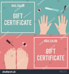Nail Salon Gift Certificate Gift Certificate Stock Vector inside Nail Gift Certificate Template Free