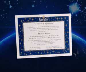 Name A Star Instant Certificate – Buy And Name A Star | Name in Star Naming Certificate Template
