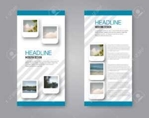 Narrow Flyer And Leaflet Design. Set Of Two Side Brochure Templates with regard to Mac Brochure Templates