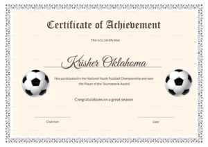 National Youth Football Certificate Template regarding Soccer Certificate Templates For Word