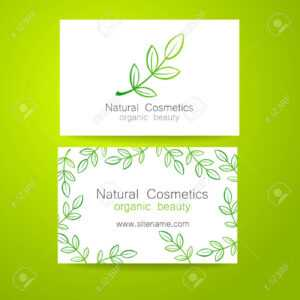 Natural Cosmetics Logo. Template Design For Organic Bio Products.  Presentation Of The Business Card. within Bio Card Template