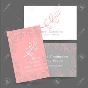 Natural Cosmetics Logo. Template Design For Organic Bio Products with regard to Bio Card Template