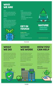 Nature Tri Fold Brochure for Volunteer Brochure Template