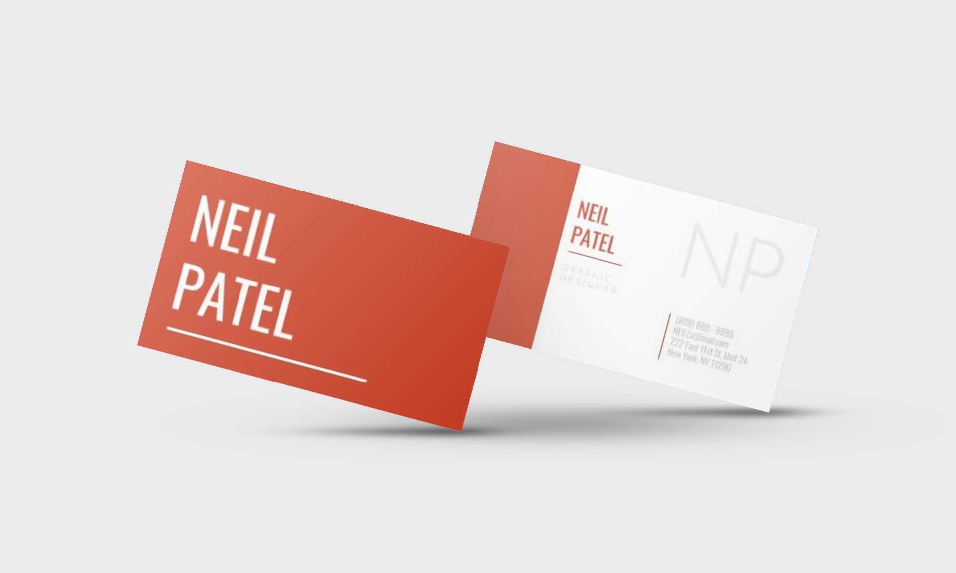 Neil Patel Google Docs Business Card Template - Stand Out Shop Inside Google Docs Business Card Template